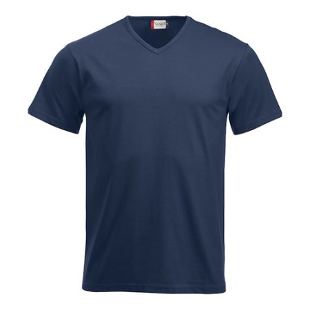 V-neck T-shirt med logo